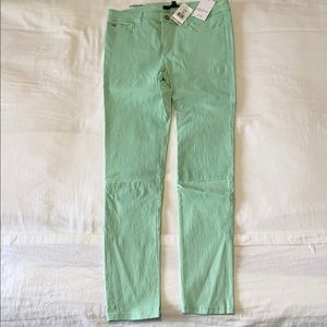 Joe's Leather Skinny Ankle Jeans NEW Menthol Green